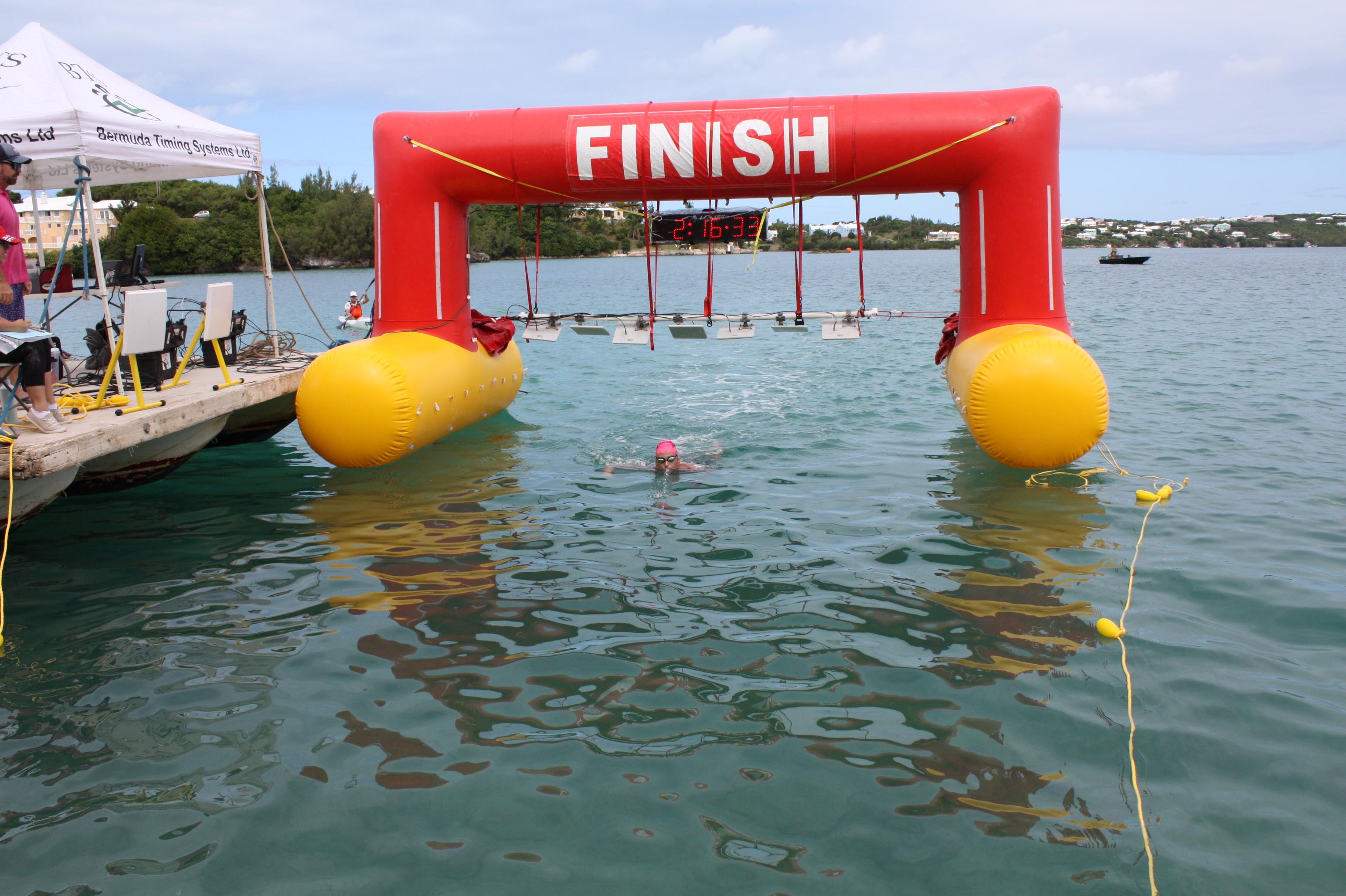 Round the Sound Swim: Finish Line